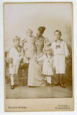Augusta Viktoria, Kaiserin mit Kinder Vintage silver print. Augusta-Victoria d