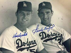 Sandy Koufax / Don Drysdale 8 x10 Autographed Signed Photo ( HOF Dodgers REPRINT