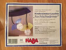 HABA Lampe Nachtschwärmer 7508 Kinderzimmer-Leuchte blau gelb aus Holz TOP