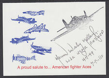 Lt. Norman Mollard, USNR, signed American fighter Aces Card