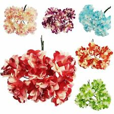 2x Bunches of Mini Glitter Paper Carnation Flowers - Craft Artificial Silk Card