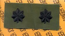 US ARMY Lieutenant Colonel LTC OD Green & Black rank patch set