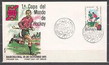 España Spain 2058 1971 I Copa Mundial de Hockey SPD Sobre Primer Día