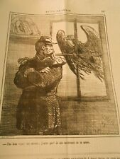 Caricature 1871 - the Eagle t'as beautiful knocking at the tile j'opens not