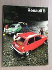 1976 Renault 5 and LeCar USA 20-page Original Car Sales Brochure Catalog