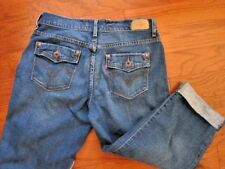 Levis Women's Size 4 Stretch Cropped Capri Rolled Cuff Jeans~Whisked