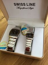 PAIR OF HIS AND HERS  SWISS LINE WATCHES - NEVER BEEN WORN - EXCELLENT F.W.O.