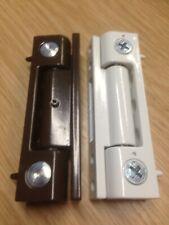 UPVC Door Butt Hinges Flat 100mm - Brown or White