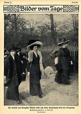 Die Kaiserin und Prinzessin Viktoria Luise im Berliner Tiergarten 1910