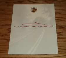 Original 1997 Chrysler Sebring Convertible Foldout Sales Brochure 97