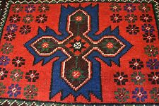 no 299 Original Vintage TURKEY USHAK ANTIQUE rug Carpet WOOL ca 2,5 x 1,6 ft