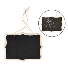 Mini Wooden Wedding Blackboard Chalkboard Hanging Message Number Party Decor RG