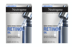 2 Pack Neutrogena Rapid Wrinkle Repair Retinol Oil 1 oz Each