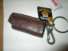 1 Leather Lighter Holder & Keychain Clip Great Bikers NEW bic & other BULL