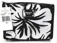 Michael Kors Pochette Fiori Pvc Black / Trasparente Modello Eliza Lg Zip Pouch