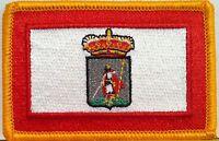 GIJON ESPANA Flag Embroidered Iron-On Patch Spain Biker Emblem Gold Border #020