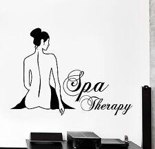 Wall Vinyl Decal Spa Therapy Beauty Salon Home Interior Decor z4094