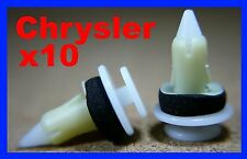10 Chrysler Mini van door card fascia trim panel lining board fastener clips pin