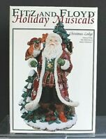 2003 New Fitz and Floyd Holiday Musicals Old World Santa Figure with Owl Rabbit