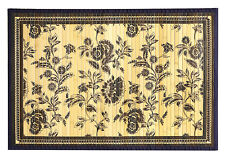 Kitchen Rugs Floor Mats Bamboo Rug  2 x 3 Area Rugs Blue Rug Floral Bamboo Mat