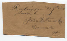 1850s Rockingham Vermont Manuscript Stampless Cover [y1752]
