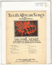 Rare Original VTG 1928 The Exile South African Songs Litho Piano Sheet Music