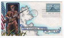 #1017 National Guard Dorothy Knapp Hand Painted Cachet FDC