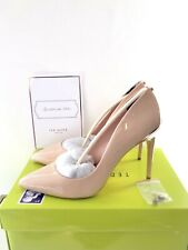 TED BAKER Nude Leather Shoes Size 8 EU 41 Patent Court Heels Brand New RRP £150