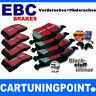 EBC PASTILLAS FRENO delant. + eje trasero blackstuff para SEAT IBIZA 5 piezas