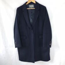 JAEGER Women's Size 16 UK Navy Elegant Wool Blend 3/4 Length Coat Formal