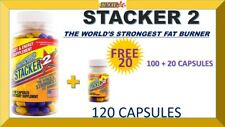 STACKER 2 WORLD'S STRONGEST FAT BURNER 2 ENERGY (100 + FREE 20 Capsules) = 120
