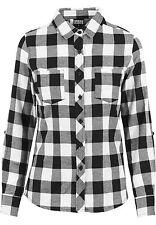 Tg.40 Urban Classics Ladies Turnup Checked Flanell Shirt Camicia Donna