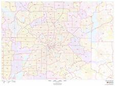 Dallas, Texas Zipcode Laminated Wall Map (MSH)