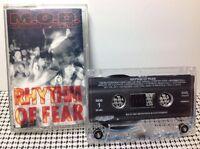 RHYTHM OF FEAR by M.O.D. ORIGINAL CrO2 CASSETTE TAPE 1992 MEGAFORCE 202866909-4