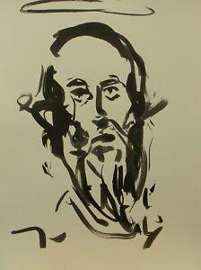 JOSE TRUJILLO ABSTRACT EXPRESSIONISM INK WASH PORTRAIT IMPRESSIONIST SAINT PAUL
