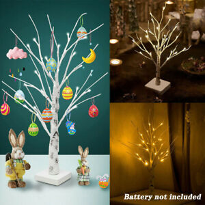 Easter Tree Christmas Decorations with Led Light Up Twig Tree For Hang Eggs Gift