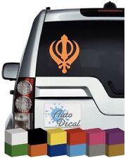 Sikh Khanda Vinyl Car, Van, 4x4 Window Sticker / Decal / Graphic