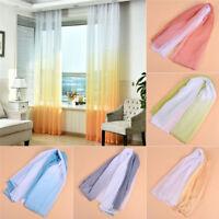 Modern Farbeverlauf Gardienenstoff Wohnzimmer Deko Bunt Handarbeit DIY Vorhang