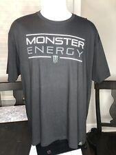 Monster Energy Mens Size XXL 2X Logo Black Short Sleeve T-Shirt