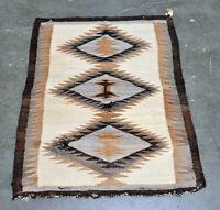 """Antique Navajo Rug, Cloud Motif - c. 1920 46""""x 34"""""""