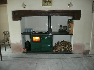 Flameview-  a woodburner c/heating  Rayburn type range cooker with  glass door