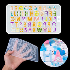 DIY Crystal Epoxy Letters Resin Mold Silicone Mould Jewelry Making Tools NEW