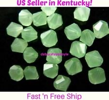 50 pcs 4mm Czech Peridot Jade Bicone Crystal Beads for Jewelry Making