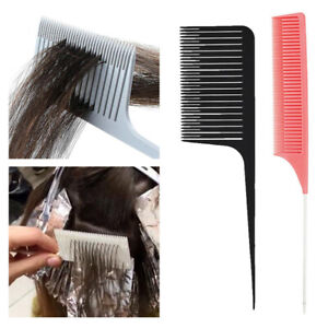 2pcs Sectioning Weaving Highlighting Foiling Hair Combs Highlight Salon Comb