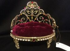 Katherine's Collection Retired Jeweled Tiara Chair Doll Display Accessory Gold