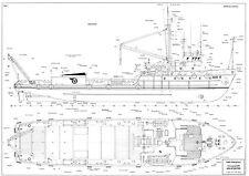 HOLSTENTOR osa 505, Versorgungsschiff, 1966. Modellbauplan