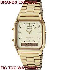 Casio Classic Gold Retro Dual Time Analogue Digital Vintage Style Watch Aq230ga
