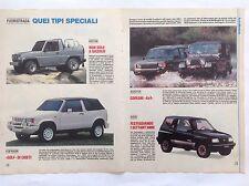 ARTICOLO Fuoristrada BERTONE biagini Suzuki Mercedes -  1990