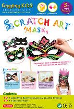 NEW Kids Scratch Art Mask Kit - Pack of 10 (10 designs), au seller