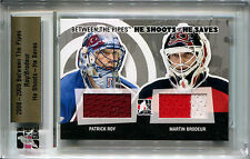 2008-09 Between The Pipes He Shoots Saves MARTIN BRODEUR PATRICK ROY Patch SP 20